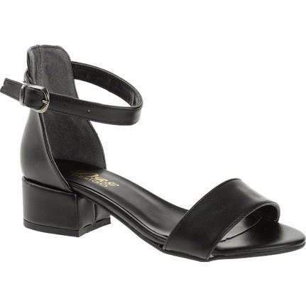 Derigo 19639 Siyah Kadın Topuklu Ayakkabı