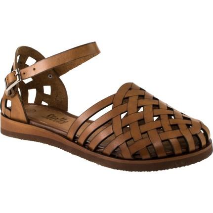 Stella 8002 Taba Tek Bant  Kadın Sandalet