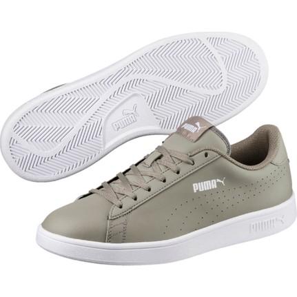 Puma Smash V2 L Gri Erkek Deri Sneaker