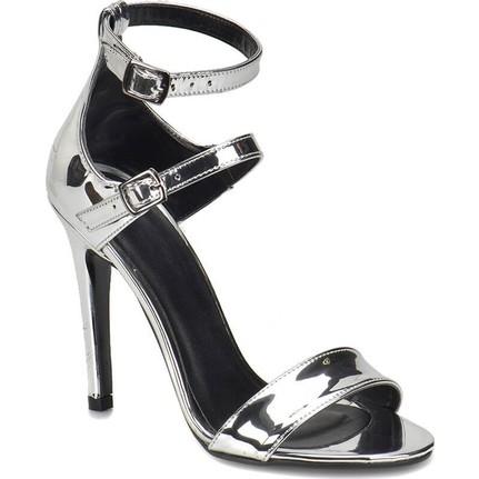 Butigo Milena Lame Kadın Topuklu Sandalet