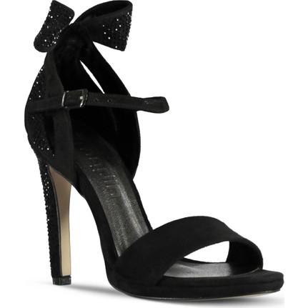 Marjin Atika Siyah Süet Kadın Platform Topuk Ayakkabı