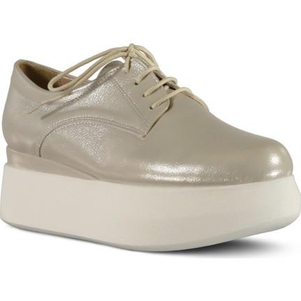 Marjin Tion Bej Kadın Düz Ayakkabı
