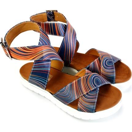 Neefs NSN208 Lacivert Günlük Kadın Sandalet