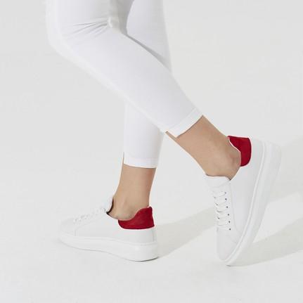 Butigo Dino 01Z33Z Beyaz Kırmızı Kadın Sneaker Ayakkabı