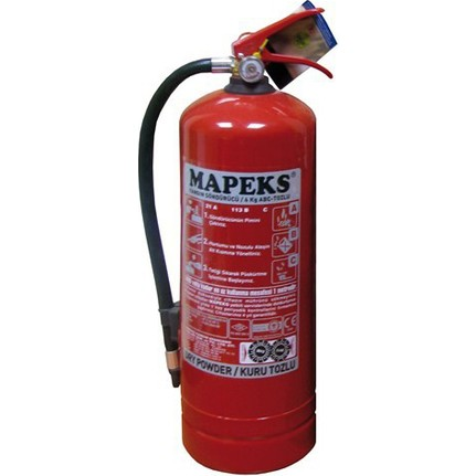 Toz yangın söndürücüler: türleri ve cihazları