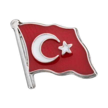 Anı Yüzük Gümüş Dalgalanan Türk Bayrağı Yaka Rozeti Fiyatı