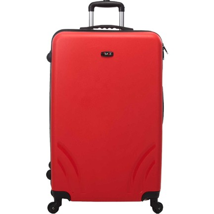 83d773a5de9a8 Tutqn Kırılmaz Plastik Bavul Kırmızı Büyük Boy Valiz %100 Pp Fiyatı