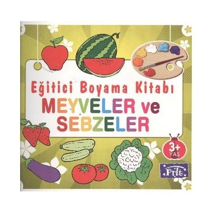 Eğitici Boyama Kitabı Meyveler Ve Sebzeler Fiyatı