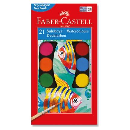 Faber Castell Suluboya 21 Renk Büyük Boy Fiyatı
