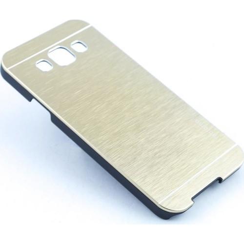 Case 4U Samsung Galaxy E7 Moto Sert Arka Kapak Altın