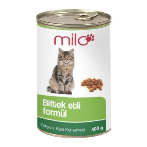 Milo Biftekli Kedi Konservesi 400 gr - 24'lü