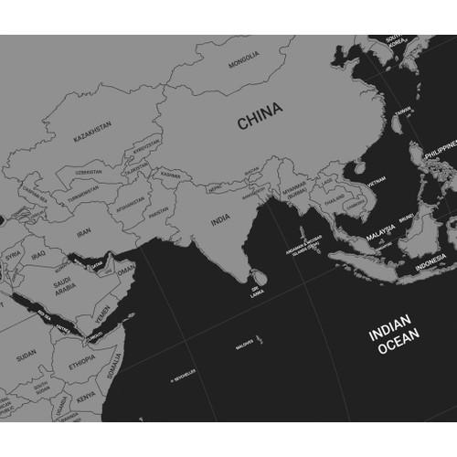 The World Deluxe Scratch Map Kazınabilir Dünya Haritası Fiyatı