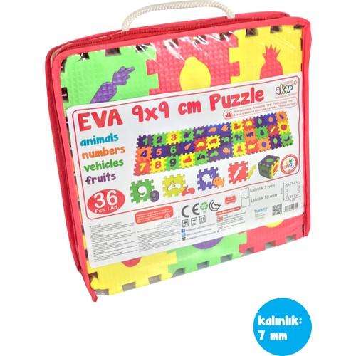 Akar Oyuncak Eva Harf Rakam Puzzle 36 Parça 9 cm 7 mm
