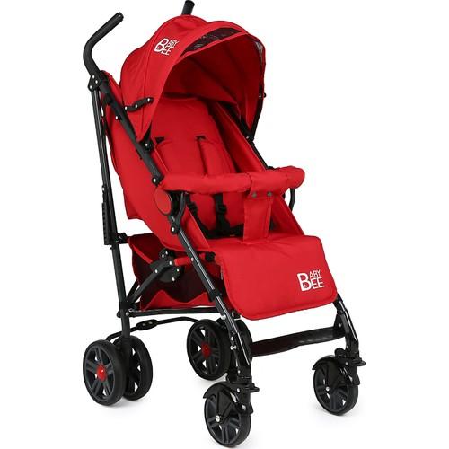 Babybee Tam Yatar Baston Bebek Arabası-Kırmızı