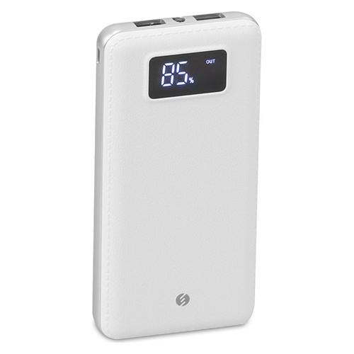 S-Link IP-G18 12000mAh LCD Ekran Powerbank Beyaz Taşınabilir Pil Şarj Cihazı