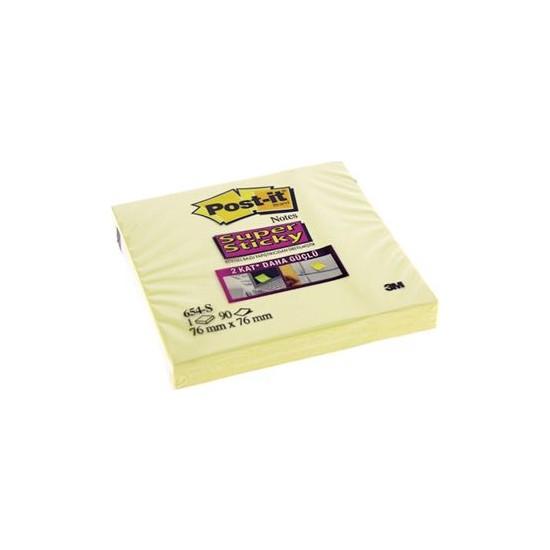 Post-İt 654-S Super Sticky Not 90 Yaprak 76 x 76 mm Sarı
