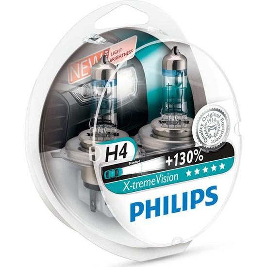 Philips H4 Model Xtreme Vision % 130 Fazla Işık Veren Far Ampül Seti 422679