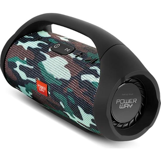 Powerway Wrx09 Askeri Kamuflaj Fm Radyolu Bluetooth Destekli Extrabass Ses Sistemi