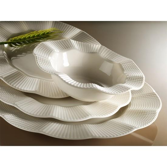 Kütahya Porselen Milena Krem Porselen 24 Parça 6 Kişilik Yemek Takımı