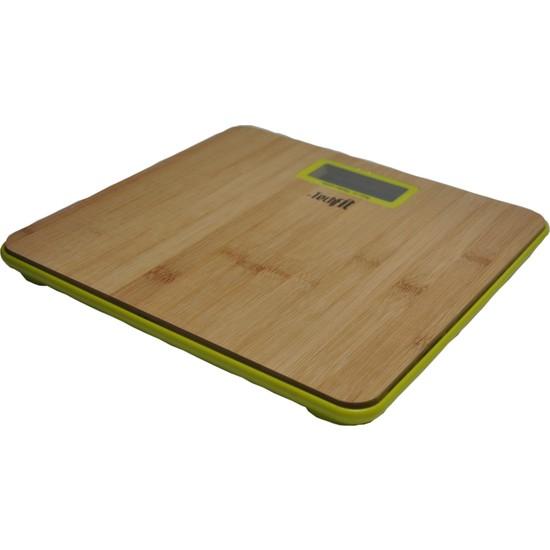 Techfit Tf1055 Dijital Baskül Bambu Yüzey Lcd Ekran Max.180 Kg