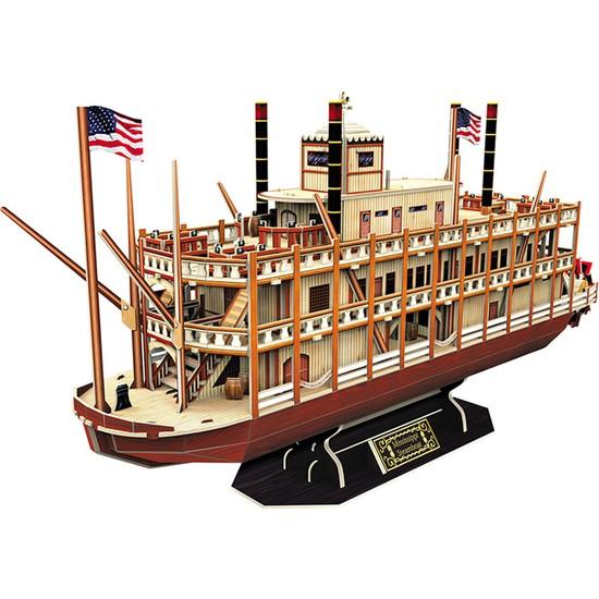 CubicFun 3D Puzzle Mississippi Buharlı Gemisi T4026H