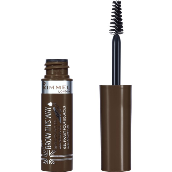 Rimmel London Brow This Way Brow Styling Gel Argan Oil Medium Brown