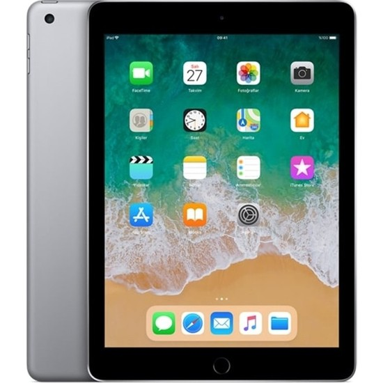 "Apple iPad 6.Nesil 128GB 9.7"" Wi-Fi IPS Tablet - Gri MR7J2TU/A"