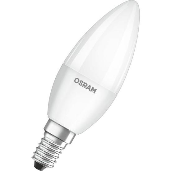 Osram 5W Mum Buji E14 Led Ampul 2700K Sarı Işık (10 Adet)