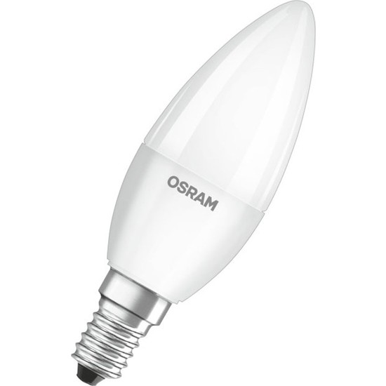 Osram 5.7W Mum Buji E14 Led Ampul 6500K Beyaz Işık (10 Adet)