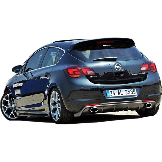 Opel Astra J HB 2011 - 2013 Makyajsız Rieger Arka Tampon Eki - Difüzör (Plastik)
