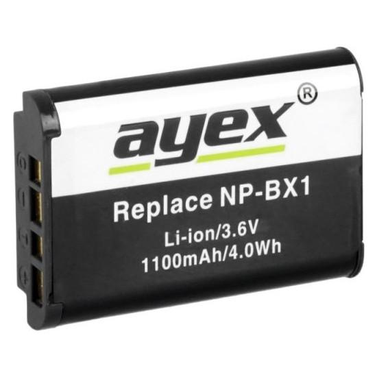 Ayex Sony Rx100- Rx1- Hx300- Wx300- Hdr-As15- Vb. İçin Np-Bx1 Batarya