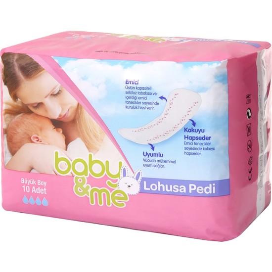 Baby&Me Lohusa Pedi 10 Adet