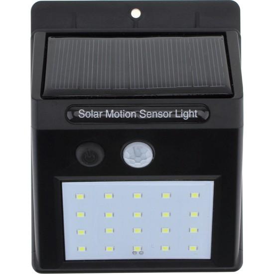 Solar Light Güneş Enerjili 20 Led Li Bahçe Aydınlatma Solar Dış Mekan Lambası Hareket Sensörlü