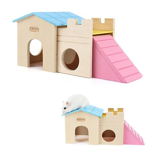 Carno Merdivenli Ahşap Hamster Evi 25 cm No 515