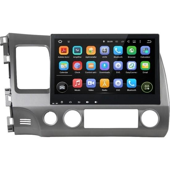 "Darwill Android Navigasyon Multimedya TV USB Oem 10.1 "" GPS Navigasyon Araç Multimedya Oynatıcı Honda Civic 2006-2011"