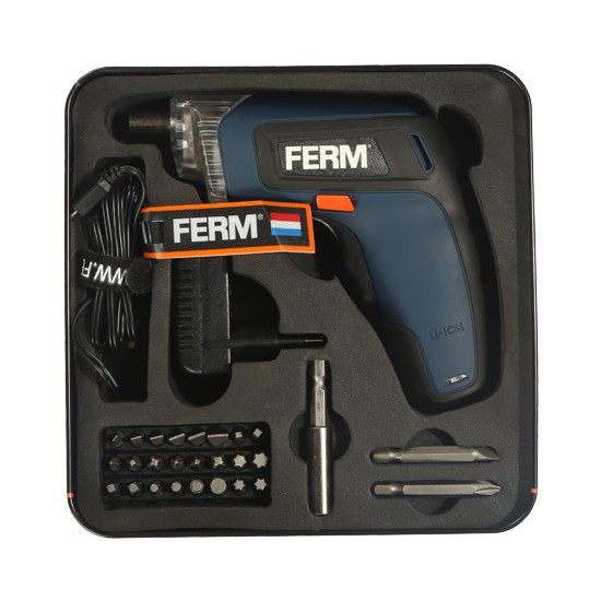 FERM Power CDM1132 Akülü Li-Ion Vidalama - 3,6V - 1,3Ah – 27 Çeşit Aksesuarlar