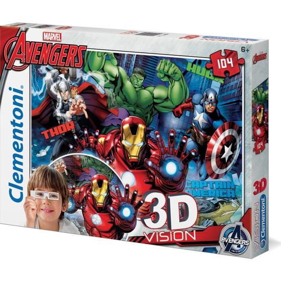 Clementoni 104 Parça Puzzle 3 Boyutlu (3D) Avengers