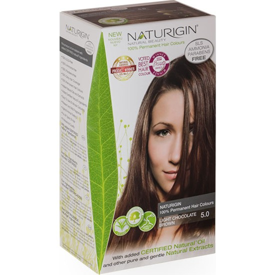 Naturigin Organik İçerikli Saç Boyası 5.0 Açık Çikolata Kahverengi