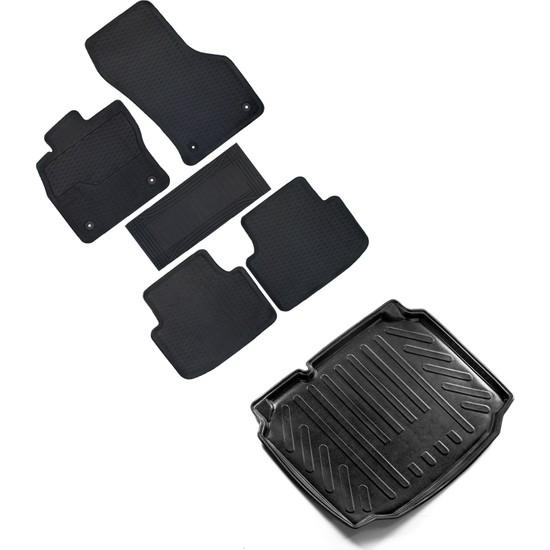 Fit 4 Car Seat Leon Hb 2013 Yüksek Kenar Paspas & Bagaj Havuzu Seti - Siyah