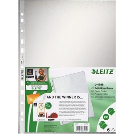 Leitz Poşet Dosya A4 11 Delikli (100 Adet) Buzlu 4796