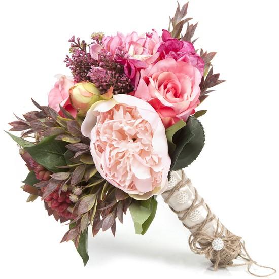 Elit Pembe & Doğal Yeşil El Çiçeği