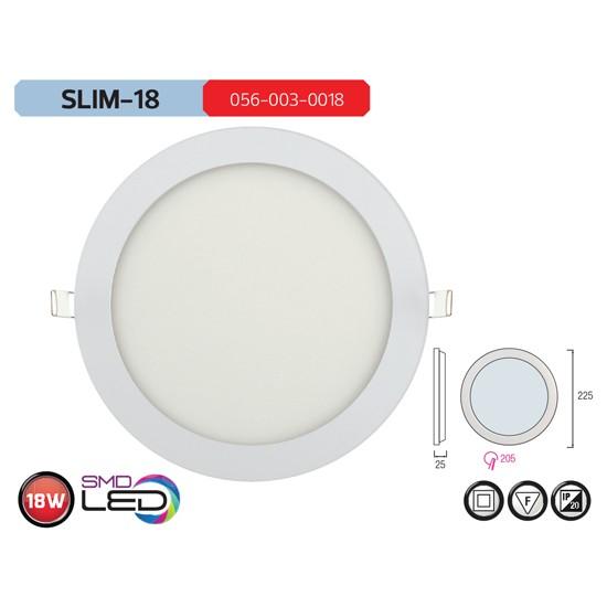 Horoz Slım18 6400K Beyaz Işık 18W Sıva Altı Smd Led Armatür