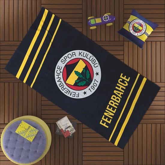 Taç Fenerbahçe Sarı Lacivert 75x150 cm Plaj Havlusu