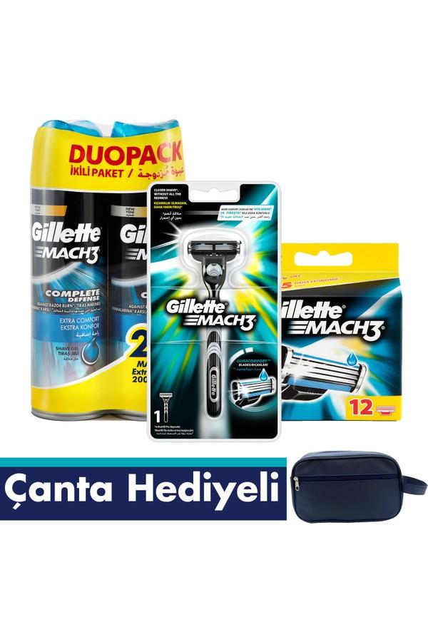 Gillette Mach3 Shaver + 12 Blade + 2 Gel