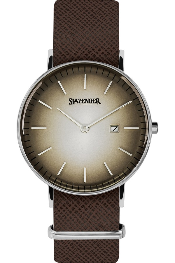 Slazenger Leather Strap Men's Watch Sl.09.1970.1.02