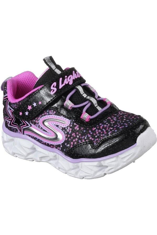 Skechers 10920 Bkmt Galaxy of Lights Illuminated Children's Sports Shoes
