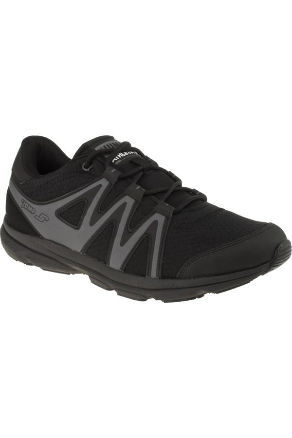 Jumper 17641 Memory Foam Attached Black Men's Sport Shoes
