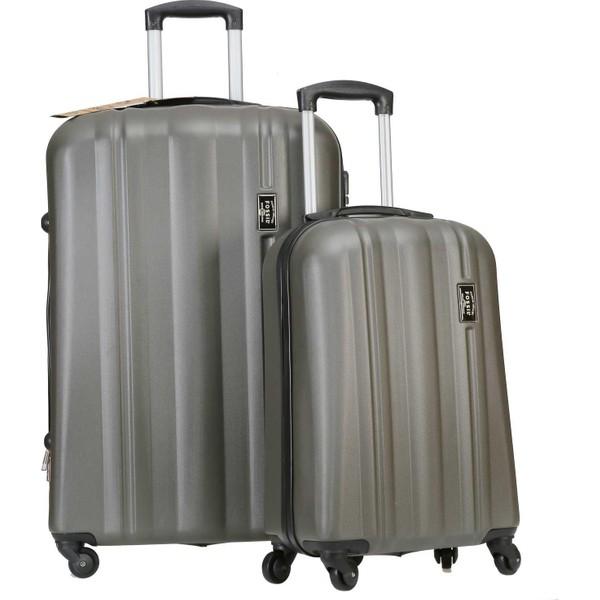 8d95314fe822c Fossil Kabin ve Büyük Boy Bavul Abs Valiz Seti Füme 1225 Fiyatları ...