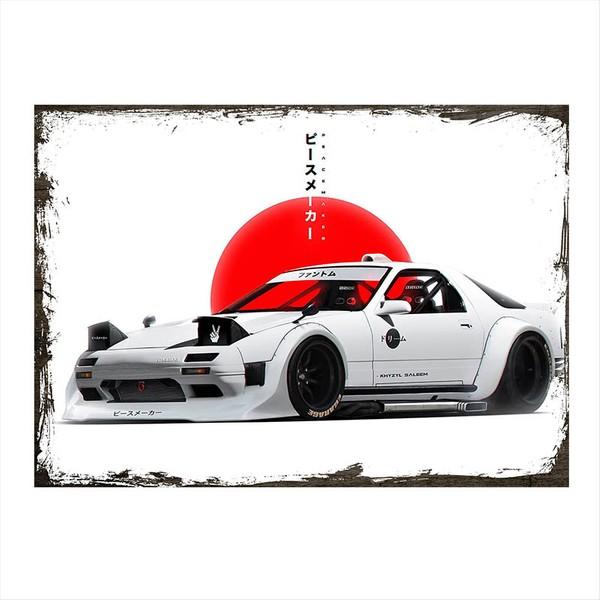 Tablomega Ahşap Tablo Japon Yarış Arabası 50 X 70 Cm Fiyatları