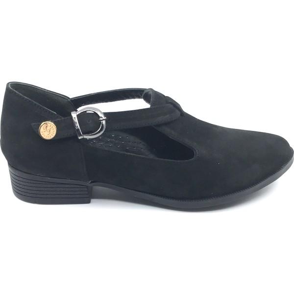 Pianoluce Deri Siyah Süet Kadın Ayakkabı Pla41-521